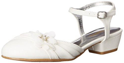 Kenneth Cole Reaction Belle Flower Dress Shoe (Little Kid/Big Kid), White, 3.5 M US Big Kid