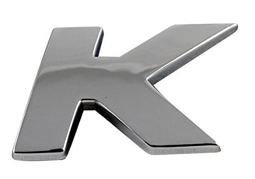 Sumex Car & Home Self Adhesive 3D Chrome Letter Sticker Emblem Badge (Letter K) - 3d Chrome Letters