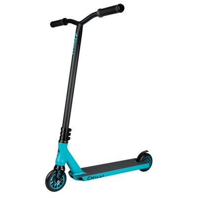 Chilli Ice Reaper Pro Scooters / Pro Scooter - Trick Scooter, Stunt Scooter, BMX Scooter, Freestyle Scooter, Trick Scooters for Kids, Stunt Scooters, Trick Scooters for Teens & Adults (Black & Blue)