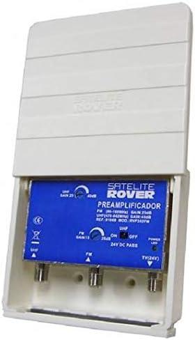 Amplificador de mástil de 2 entradas UHF y Ganancia de 40dB