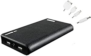 30000mAh Wallet Dual USB External Black Power Bank Portable Charger for cell phones MP3 MP4