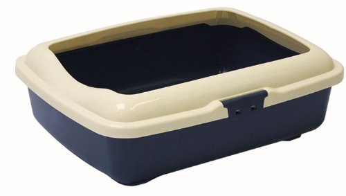 Marchioro Goa 3C Cat Litter Pan with Lip, Large, Colors Vary