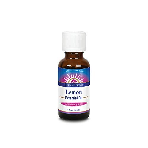 HERITAGE STORE Lemon Essential Oil, Lemon (Btl-Glass) 1oz -