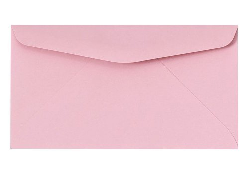 #6 3/4 Reply Business Envelopes - 50 Per Pack (Pastel Pink)