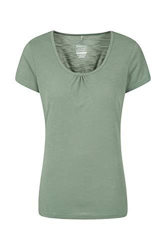 Mountain Warehouse Agra Damen-T-Shirt - leichtes, schnell trocknendes, atmungsaktives Sommer-Oberteil mit hoher Feuchtigkeitsregulierung - für Sport, Wandern, Freizeit