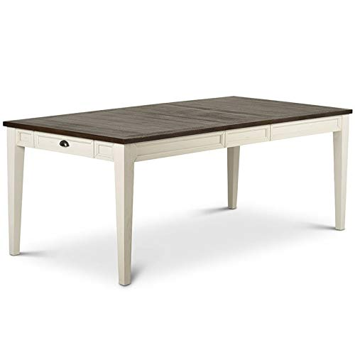 (Steve Silver Cayla Extendable Dining Table in Dark Oak)