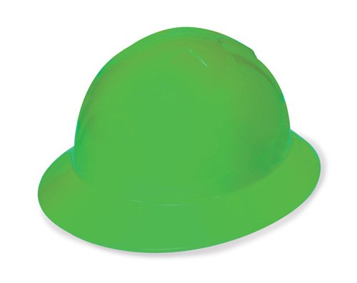 Liberty DuraShell HDPE Full Brim Hard Hat with 6 Point Ratchet Suspension, Hi-Vis Green (Pack of 6) by Liberty Glove & Safety B00C9Q10D4
