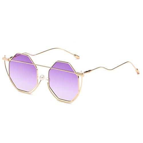 Femmes pour Lens Lens Sakuldes Frame Pink Lens de Mirror Hommes Gold Chameleon Lunettes UV400 Gold Frame Purple Soleil Rose Color de Soleil et Lunettes wqgYz