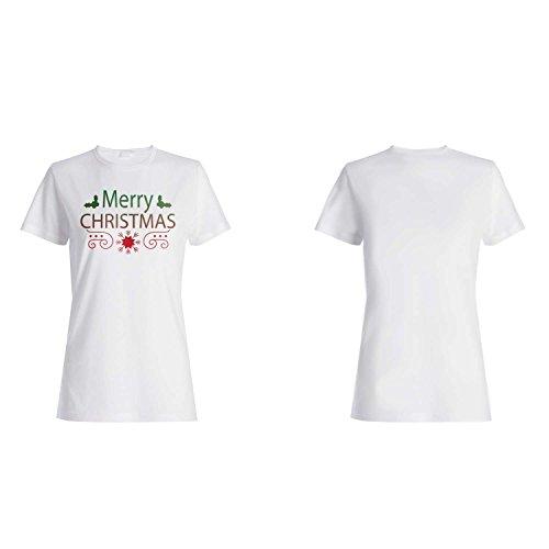 FELIZ NAVIDAD XMAS FUNNY NOVEDAD NUEVO camiseta de las mujeres l23f