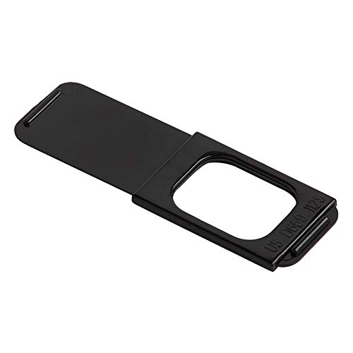 C-Slide 1.0 Sliding Webcam Cover, Black, Durable Plastic, No Scratch Design, Fits Computers, Laptops, Macs, Chromebooks, Video Game Consoles, More 1.5 x 0.5, 1mm Thick