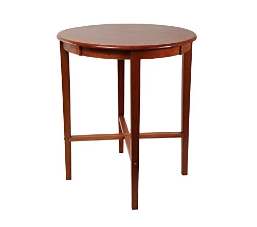 Wood & Style Office Home Furniture Premium Round Pub Table, 42-Inch, Cherry 36' Glass Pub Table