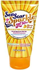 Sea Star Sparkle SPF 50+ Mango Tango with Gold Glitter – 4 oz.