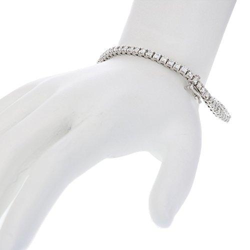 3 CT AGS Certified I1 I2 14K White Gold Diamond Bracelet (H I)