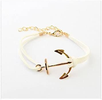 Dainty anchor bracelet Gold anchor charm Gold anchor bracelet Minimalist jewelry Friendship bracelet Nautical jewelry Tie bracelet