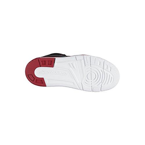 Nike Jordan Flight Tradition Bp, Zapatos de Primeros Pasos para Bebés Negro / Rojo / Blanco (Black / Gym Red-White)