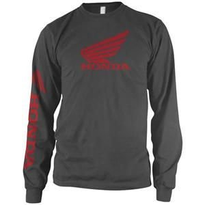 (Honda Mens Wing Long-Sleeve Shirt, Grey, X-Large)
