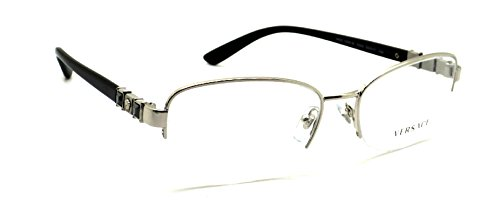 Versace Eyeglasses VE 1230B Eyeglasses 1000 Silver - Eyeglasses Versace Mens