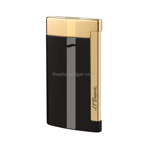 S.T. Dupont Lighter Slim 7 - Black & Gold Finishes for sale  Delivered anywhere in USA