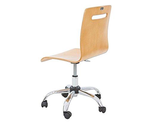 Schreibtischstuhl holz höhenverstellbar  Bürodrehstuhl aus Holz mit extra leisen Laufrollen - Drehstuhl ...