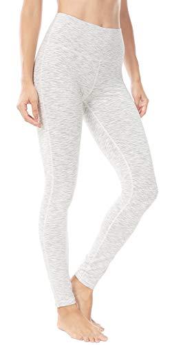 Queenie Ke Women Power Stretch Plus Size Yoga Leggings Pants Running Tights Size XXL Color White Stripes ()