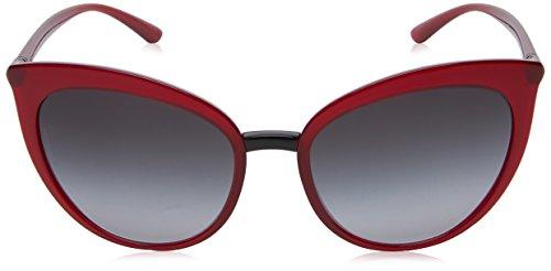 Dolce 6113 Gabbana Donna Rosso transparent Occhiali Sole greygradient amp; Bordeaux rBqRwpxFWr