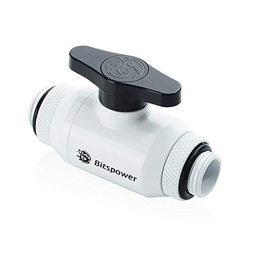 "Bitspower Mini Valve with Dual Rotary G1/4"" Extender, Deluxe White"