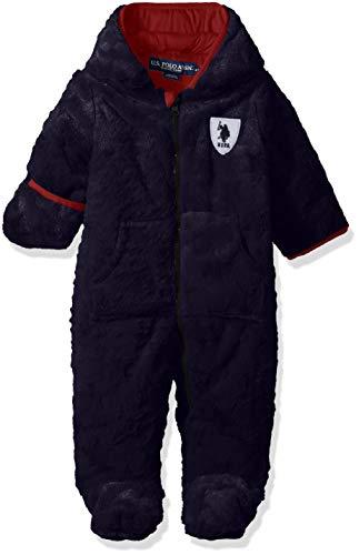 US Polo Association Baby Boys Embossed Star Pram, Navy, 18M