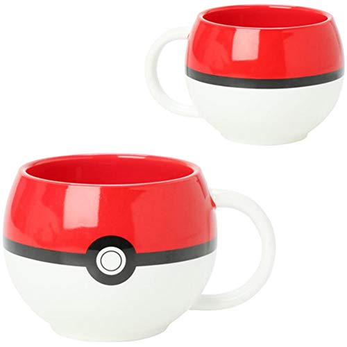 JUST FUNKY Pokemon Pokeball Molded Coffee Mug