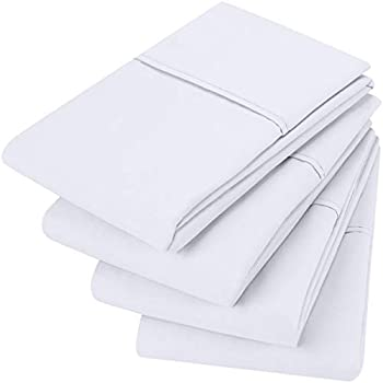 Utopia Bedding Brushed Microfiber Pillowcases - 20 by 40 inches Pillow Covers (Pack of 4, King, White)