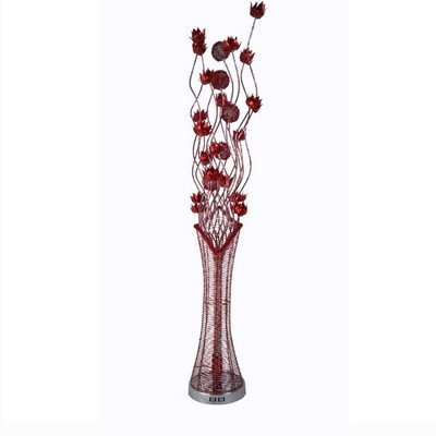 Indispensable 7 Light Red Flower Metal Floor Lamp (Neoteric Design) (B77)  Piluno