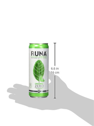 RUNA Clean Energy Guayusa Drink, Lime, 12 Ounce (Pack of 12)