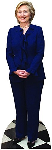 Hillary Clinton In Blue Cardboard Cutout
