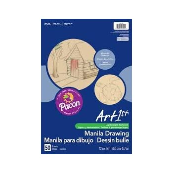 Pacon 12 x 18 Cream Manila Drawing Paper 50 Sheets