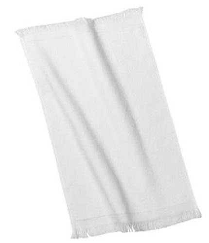 USA_Best_Seller 1 New White Terry Velour Fingertip Golf Hand Towel 11x18 Fringed Ends Home Kitchen Bathroom Cotton Hotel Vacation Rental Properties