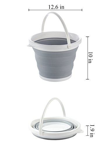 Portable Folding Collapsible Water Bucket,Wilifdom Foldable Water Container Wash Pail for Fishing, Beach, Gardening, Travel, Car Washing, Camping and Outdoors Wash Pail Water Container 2.65 Gallon by Wilifdom (Image #6)