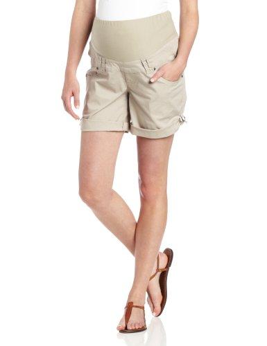 Ripe Maternity Women's Maternity Smith Shorts, Stone, Large