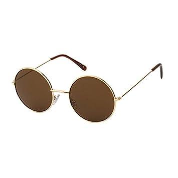 Sonnenbrille Unisex Rund Hippie Brille John Lennon getönt 400UV langer Steg lila grau FIxnN9ed8O