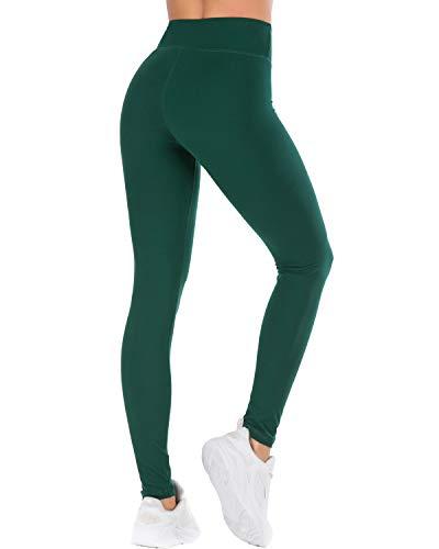 Butter Soft Yoga Pants for Women-Casual Comfortable Basic Workout Leggings Dark Green]()
