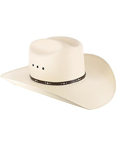 Resistol Men's George Strait Kingman 10X Straw Cowboy Hat Natural 7 3/8