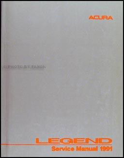 1991 Acura Legend 4 door Repair Shop Manual Original