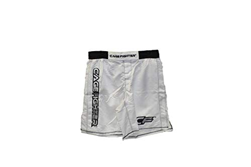 Cage Fighter - White Shorts with Black Trim, 40 ()