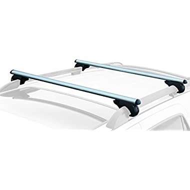 CargoLoc Roof Top 2 PC. 47  Aluminum Cross Bars - Lockable