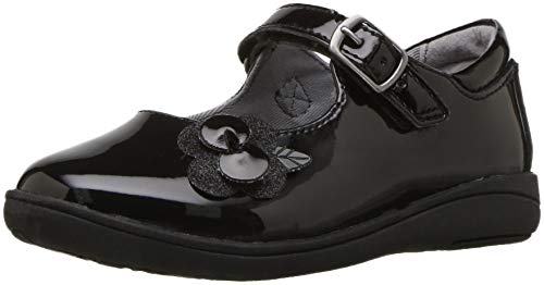 Stride Rite Girls' SR AVA Mary Jane Flat, Black Patent, 12 M US Little Kid