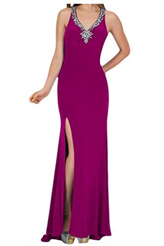 Toscana sposa alla moda Rueckenfrei kraftool Chiffon stanotte vestimento per Party un'ampia Ball Bete vestimento viola 36