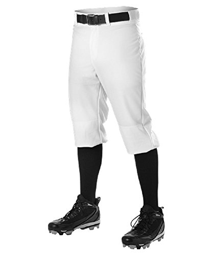 Alleson Men's Knicker Baseball Pant,White,Large ()