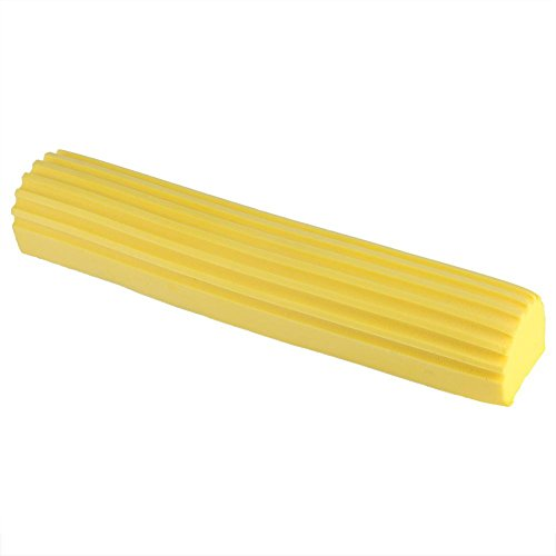 (Absorbent Foldable PVA Sponge Foam Mop Head Refill Replacement for Home Kitchen Floor Cleaning (Yellow))