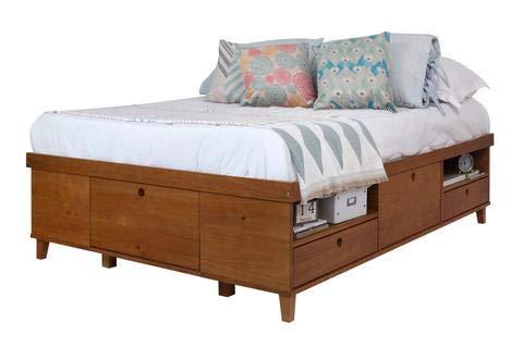 Memomad Stauraumbett Charme 160x200 - Bett aus Holz mit 7 Schubladen - Preis inkl. Lattenrost