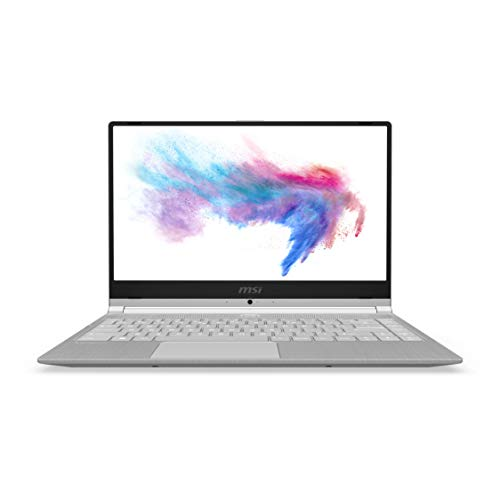 MSI Modern 14 A10M-652IN Intel Core i5-10210U 10th Gen 14-inch Laptop(8GB/512GB NVMe SSD/Windows 10 Home/UMA/Grey/1.29Kg )9S7-14B361-652 (Silver)