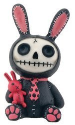 Black and Pink Bunny Bun-Bun Furry Bones Collectible Figurine