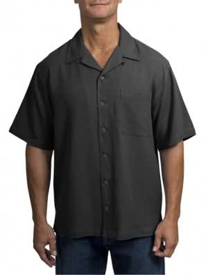 Big mens silk blend camp shirt by port for Mens silk shirts amazon